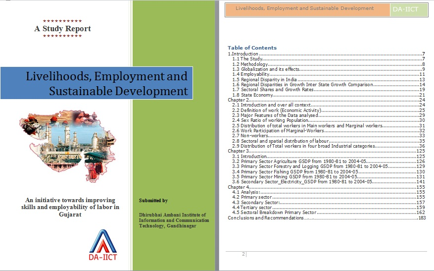 Livelihoods, Employment and Sustainable Development